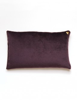 Coussin Chibi - velours /prune/