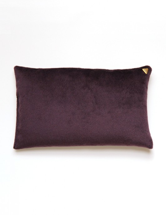 Coussin Chibi – velours /prune/