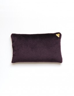 Coussin Chibi small - velours /prune/
