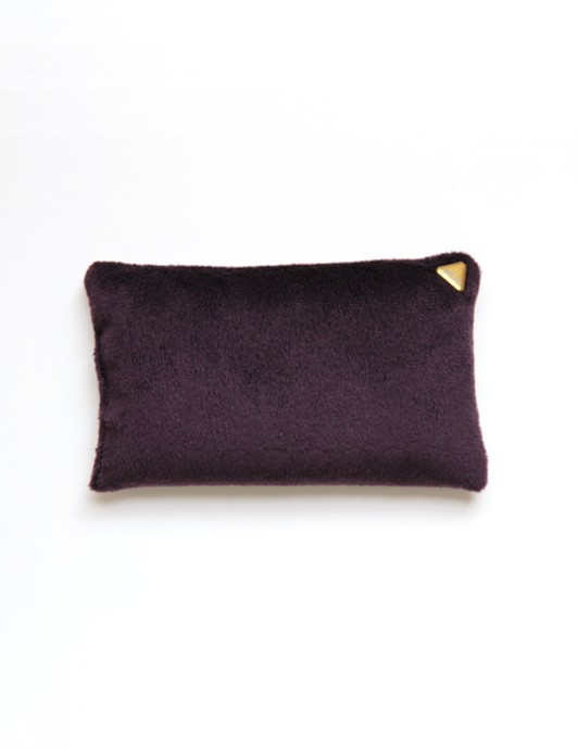 Coussin Chibi small – velours /prune/