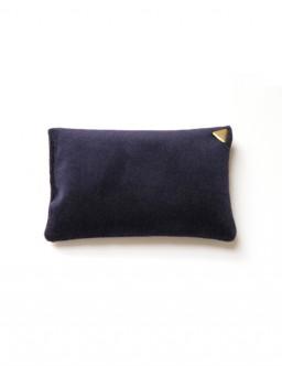 Coussin Chibi small - velours /bleu marine/