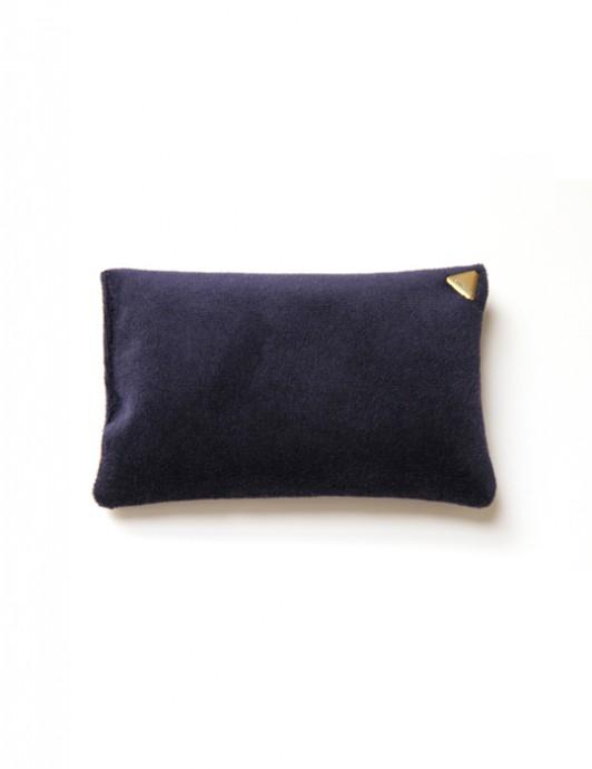 Coussin Chibi small – velours /bleu marine/