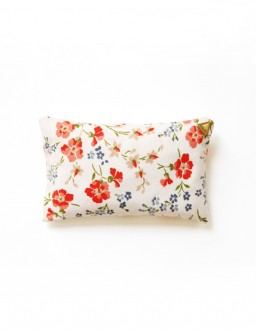 Coussin Chibi small - tissu /fleurs rouges/